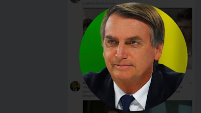 Foto de Jair Bolsonaro em seu perfil no Twitter.