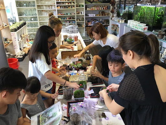 Potting with family and friends