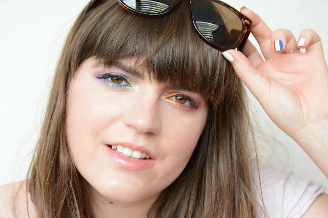 Rainbow eyes Makeup