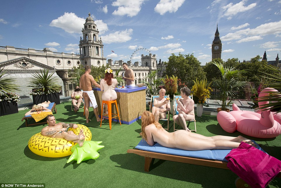 Erected in Parliament Square, the new 'pop up' venue includes an open-air bar, sun-bathing areas and the opportunity for a bounce on its trampoline or a round or two of swing-ball.