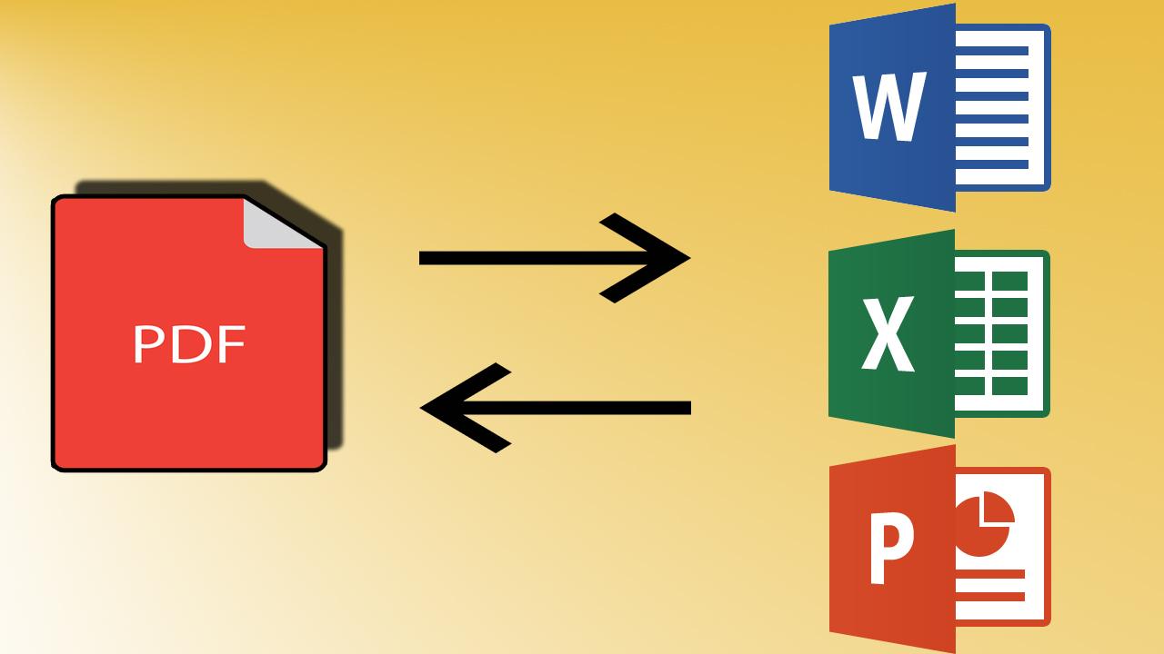 تحويل ملفات Pdf الى Word Excel Powerpoint للتعديل عليها