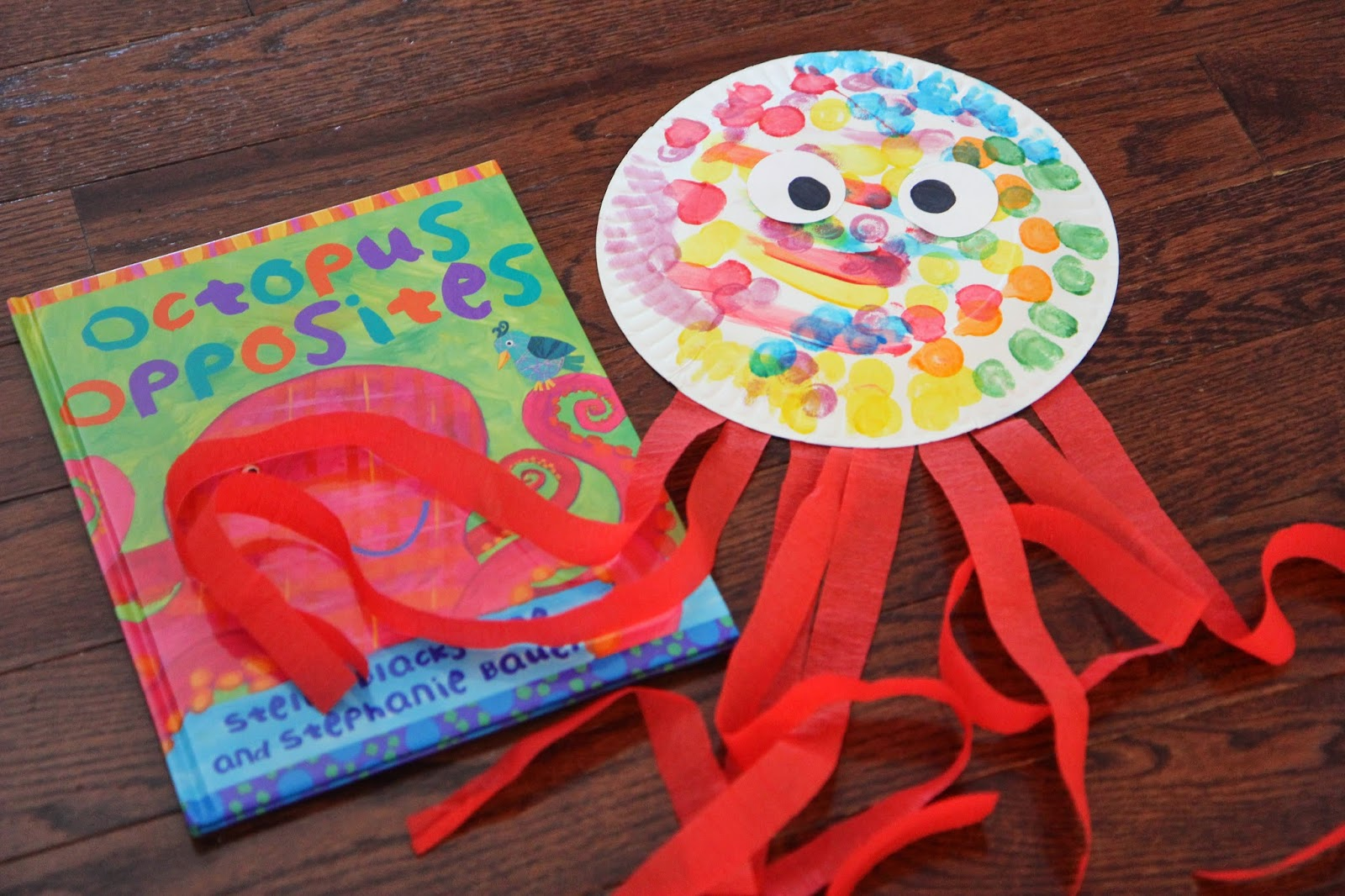 Octopus Paper Plate Craft Amp Free Paper Octopus Craft Idea