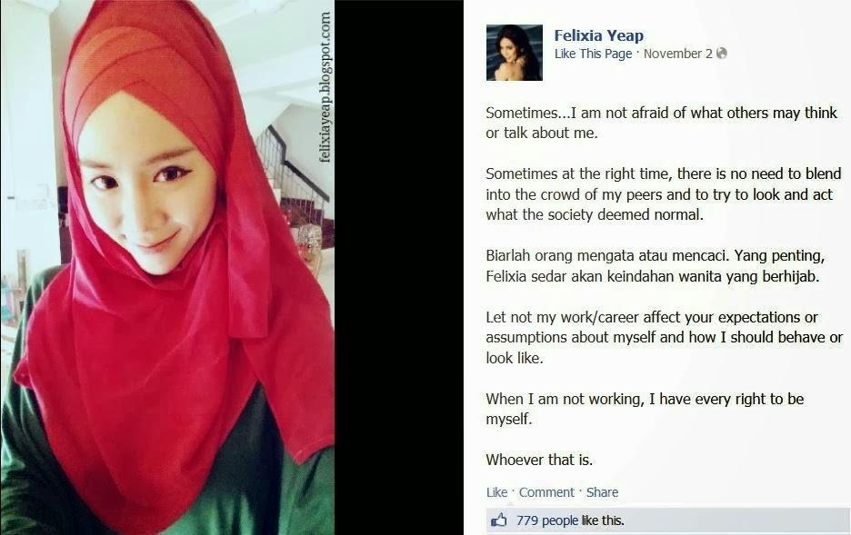 Kisah Felixia Yeap Peluk Islam