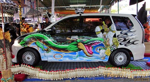 Modifikasi Mobil Xenia Putih