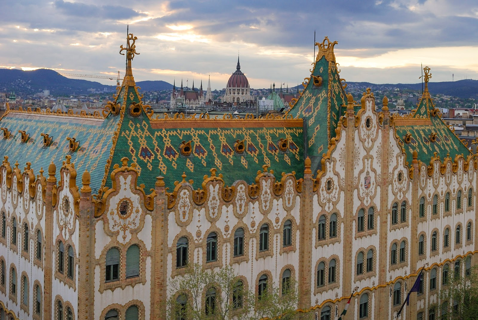 sunset bubble bar view hotel president treasury state parliament art nouveau budapest guide itinerary instagram worthy spot sights landmarks hungary