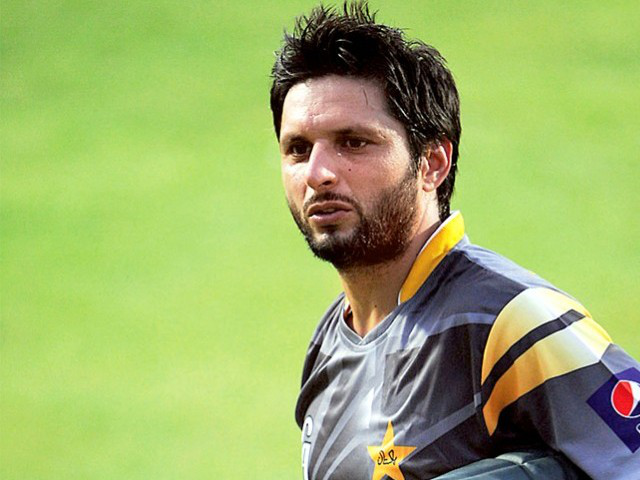 Shahid Afridi Pakistan Cricket Star New HD Wallpaper 2014