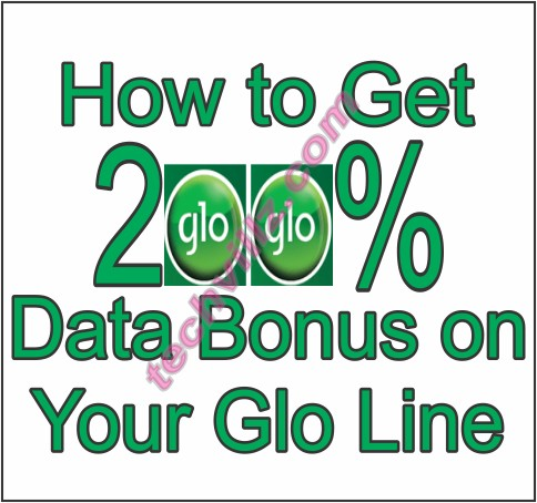 how to activate glo 200% data bonus with quickteller