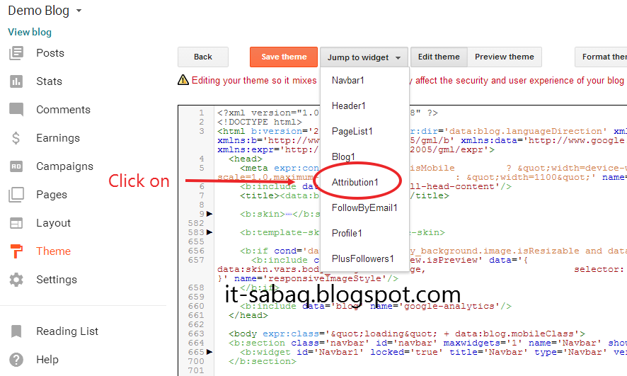 how to remove jump break in blogger