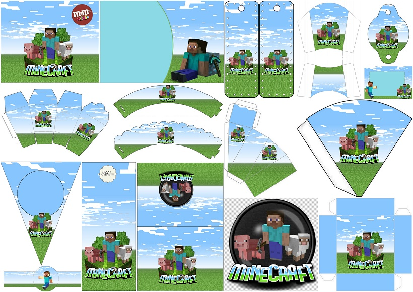 Kit Para Fiesta De Minecraft Para Imprimir Gratis Oh My Fiesta Friki