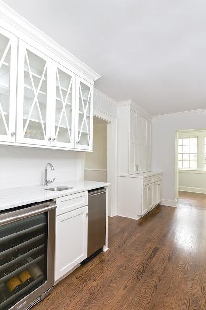 x box glass cabinets interior design kitchen 2016 white durostain walnut floors benjamin moore paperwhite walls decorators white ceilings