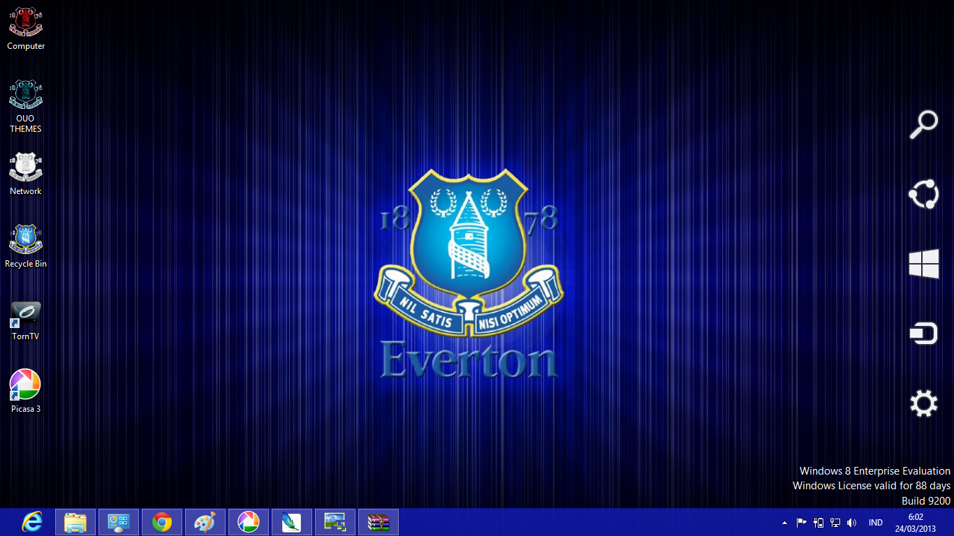 Everton Fc Theme For Windows 7 And 8