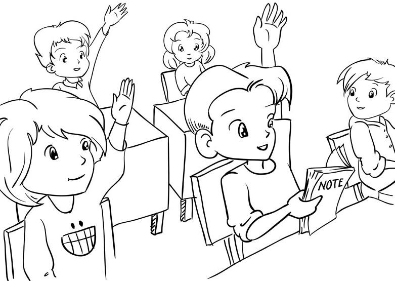 Mewarnai Kartun Anak Sekolah Gambar Slide 3 Kumpulan Terbaru Gambarcoloring