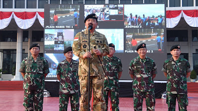 14 Ribu Prajurit TNI dan Keluarganya Gelar Tari Gemu Famire