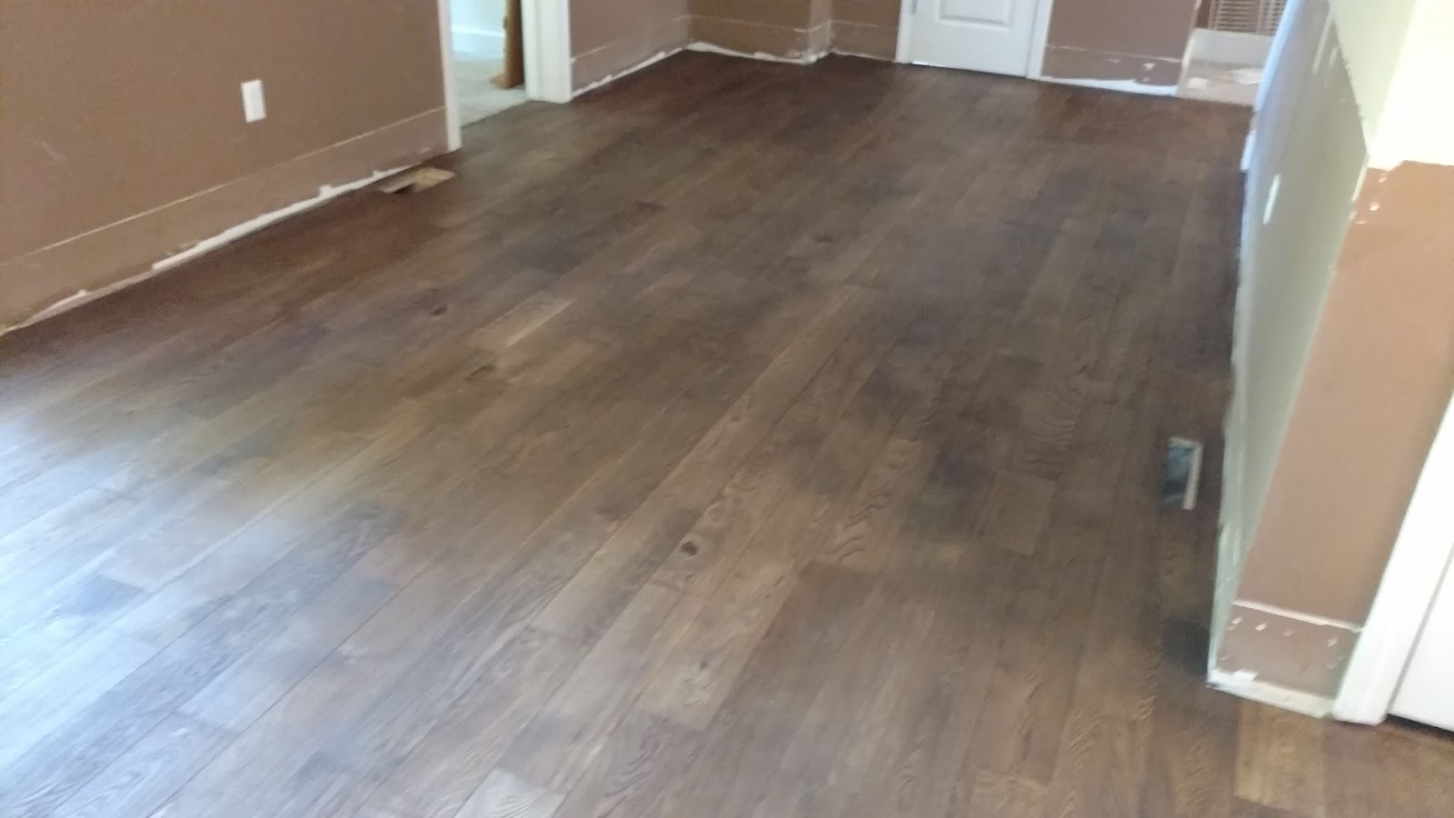Stain And Floor Sanding For Kitchen And Living Room In