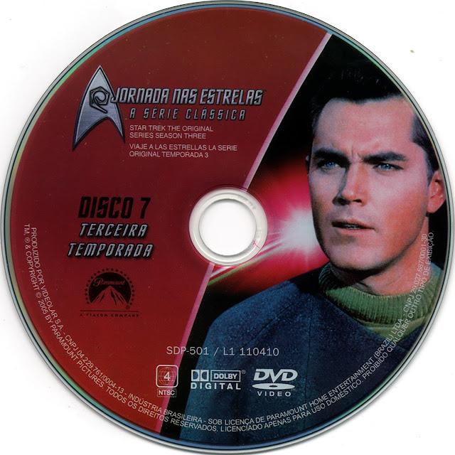 Label DVD Jornada nas Estrelas A Série Clássica Terceira Temporada Disco 7 (Oficial)