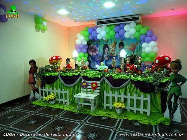 Ornamentação temática Tinker Bell para aniversário infantil