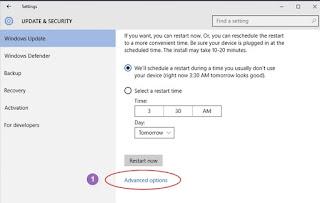 cara hentikan update windows 10 dengan Defer Upgrade