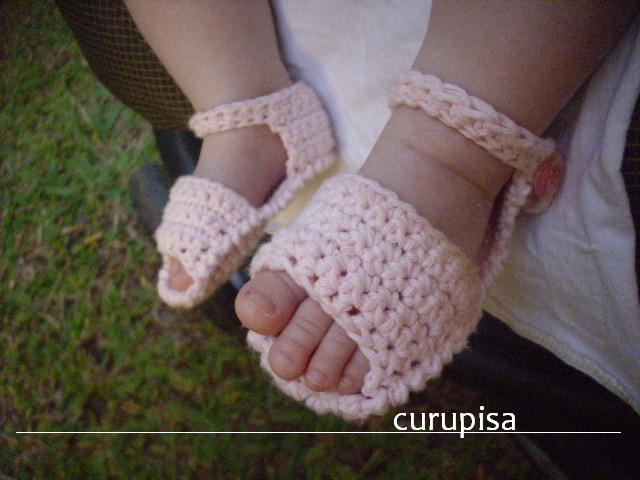 Curupisa: Chancletas: sandalias de bebé a crochet / crochet baby sandals