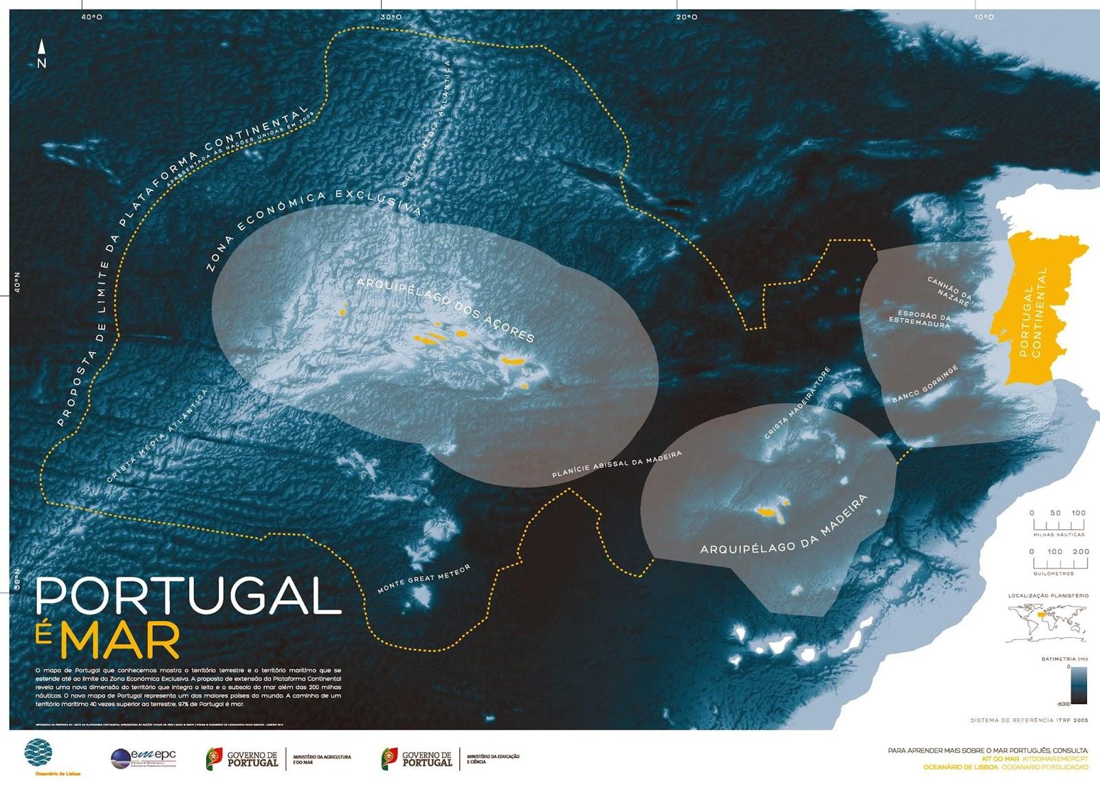 portugal é mar novo mapa geografia e ensino de geografia | blog: Portugal é Mar   O novo  portugal é mar novo mapa