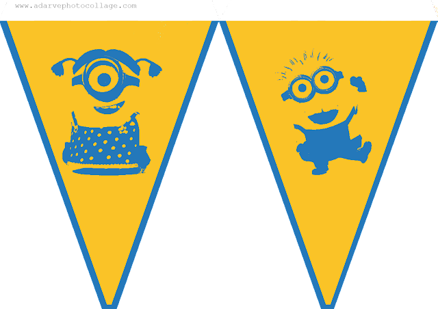 free guirlande for kids parties with the minions