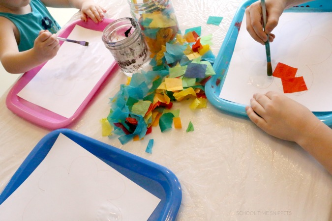 Tissue Paper Craft for Kids