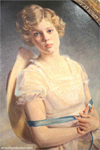 Retrato de Niña en el Sótano de Marble House, Newport