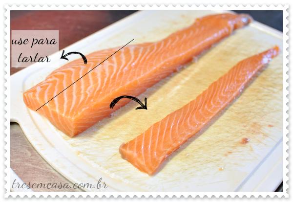 como preparar sashimi de salmão