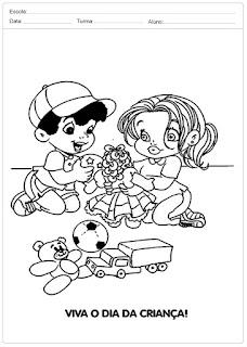 Desenhos para Colorir: Dia das Crianças
