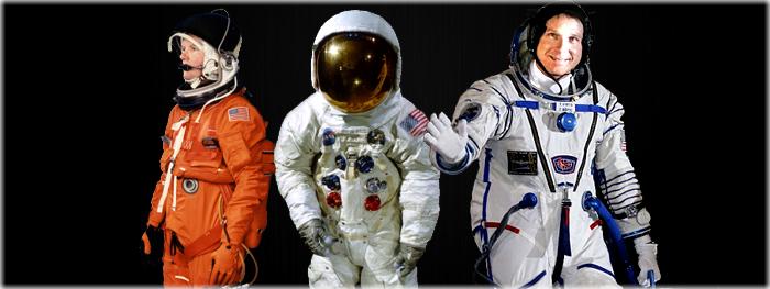trajes espaciais diferentes