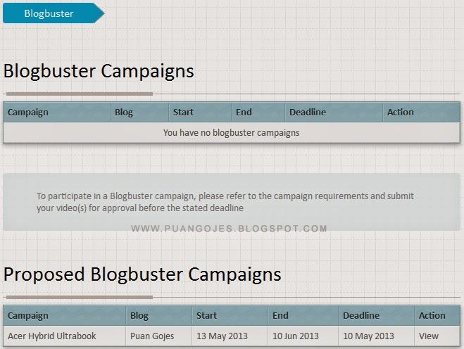 Lama Tak Dapat Nuffnang Blogbuster Campaigns