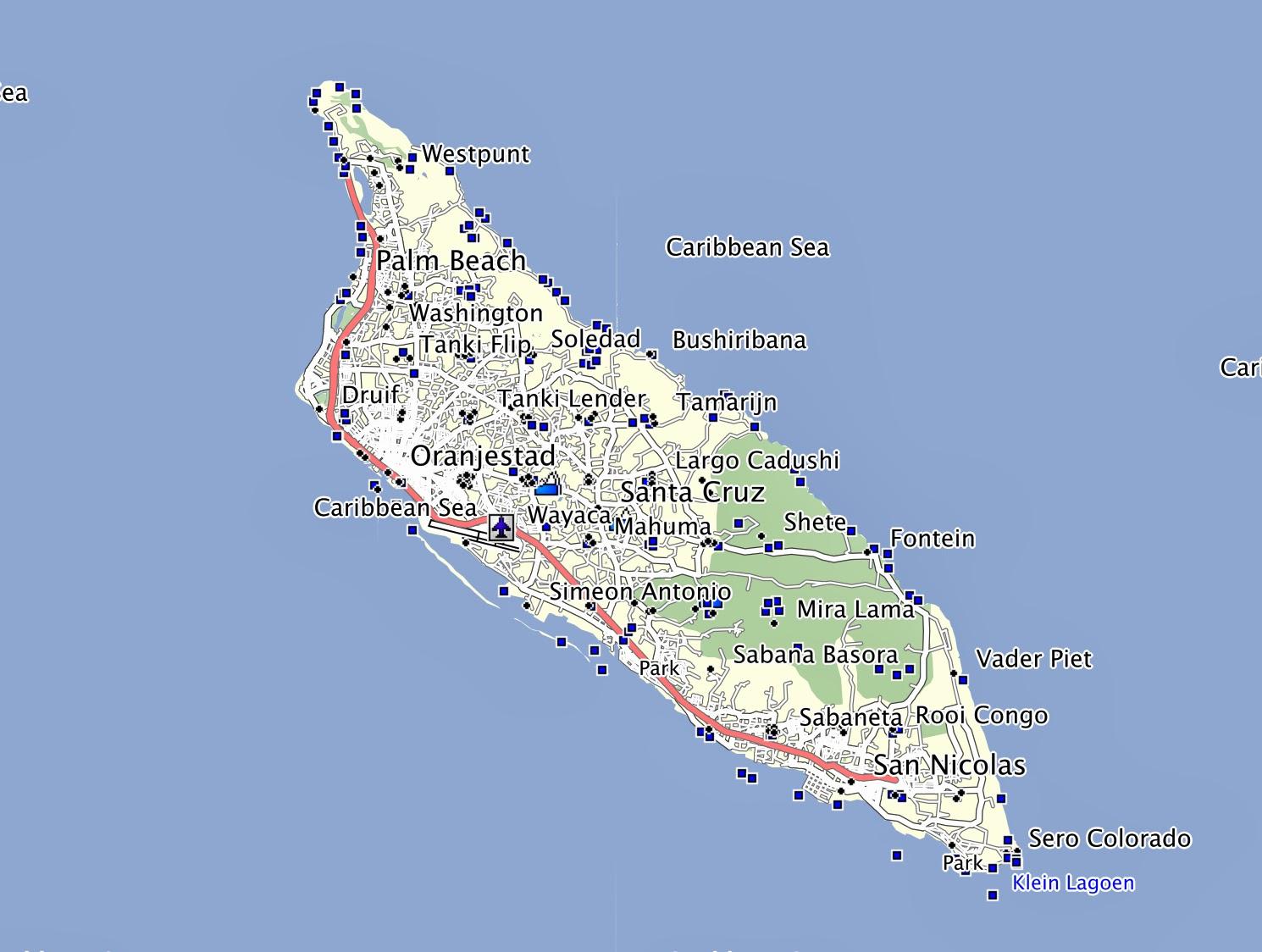 Aruba GPS Map -