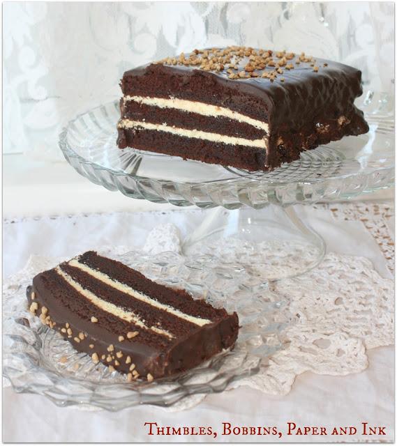 Chocolate Cake with orange butter cream and chocolate ganache