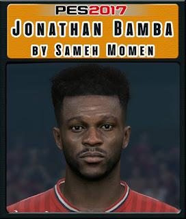 PES 2017 Faces Jonathan Bamba by Sameh Momen