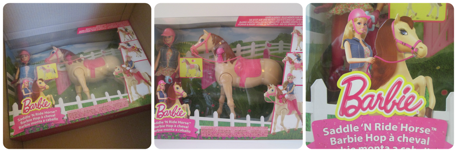 Barbie Saddle 'n Ride Horse and Doll Packaging
