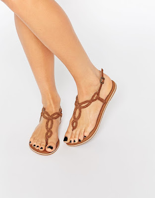 New Look Plaited Leather Flat Sandal