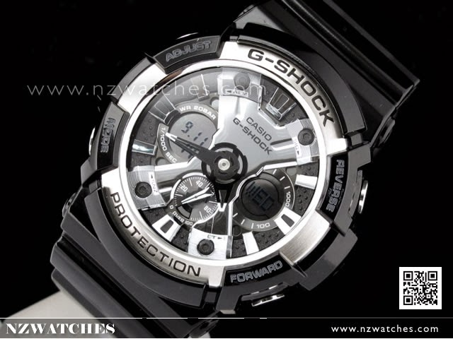 Casio G-Shock Analog Digital Bold Basic Black World Time Watch GA-200BW-1A cfdbb1252bbe