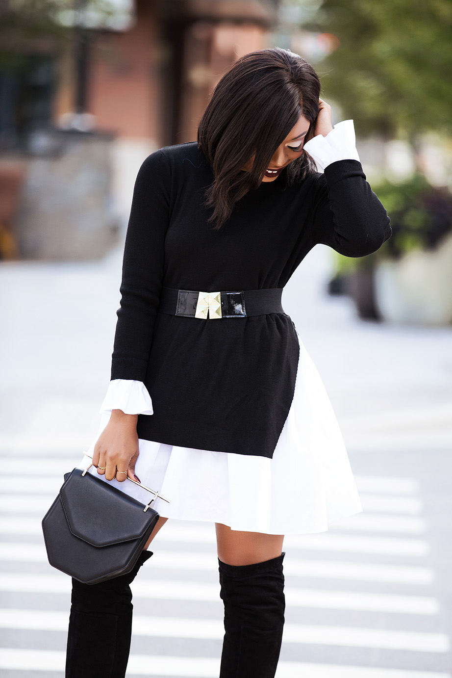 black and white combo, www.jadore-fashion.com