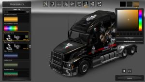 Big Mama Tattoo Skins for Volvo VNL 670