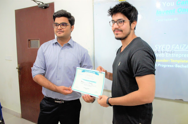 "Syed Faizan Ali Giving away Certificate for ""Best Business Idea"" Contest"