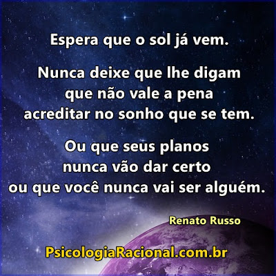Frase de motivação de Renato Russo para quem sofre com automutilação cutting