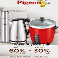Snapdeal: Buy Pigeon Kitchenware upto 60% off + 10% off on Rs. 300, 20% off on Rs. 1499 + 25% off  (No minimum purchase)