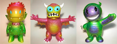 Easter Inspired Custom Kaiju Vinyl Figures by D-Lux - Rose Vampire, 1988 Greasebat & Incredible Hulk Mummy Boy