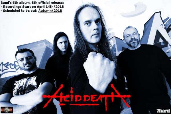 ACID DEATH: Ξεκινούν οι ηχογραφήσεις του νέου album