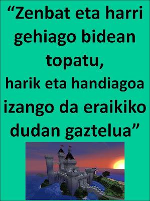Resultado de imagen de zenbat eta harri gehiago