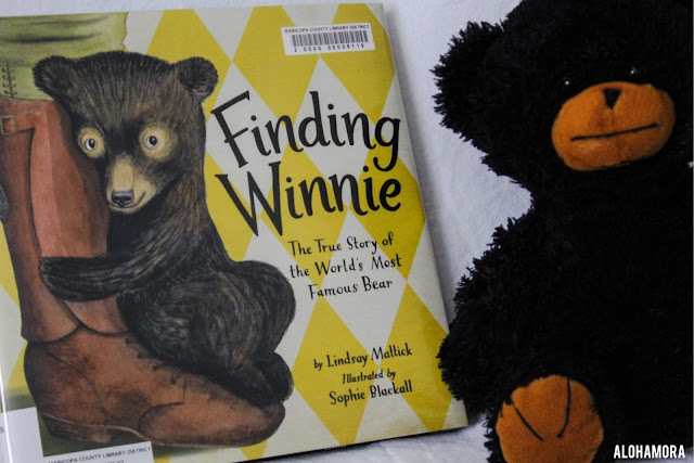 Finding Winnie: The True Story of the World's Most Famous Bear by Lindsay Mattick tells the story of Winnie-the-Pooh and how he came to be.  This is a fabulous story and really well written.  I think the pictures are great, but the story line is the real winner here.  This Caldecott Medal Winner is an all around great read and gets 5 stars in my book review. Alohamora Open a book picture books, kidlit, read alouds, librarians, library, teachers, Toddlers, Preschool, Kindergarten, 1st, 2nd, 3rd, 4th, 5th, 6th biography, history, imagination