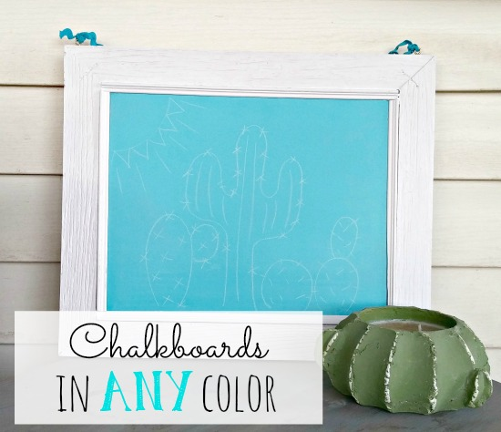 How to make chalkboards in any color!