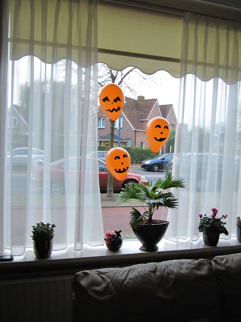 Halloween-feest versiering pompoen ballonnen raam