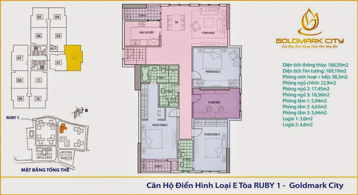 Chung Cư Goldmark City Tòa Ruby 101