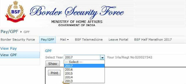 BSF View GPF Slip Details