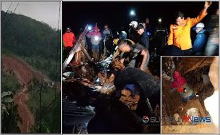 BPBD Kabupaten Sukabumi bersama TNI, Polri, Basarnas, aparat setempat, relawan, dan masyarakat bersama melakukan pencarian dan penyelamatan korban.